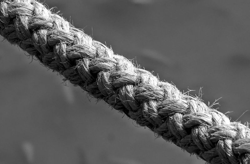 Close-up of braided rope