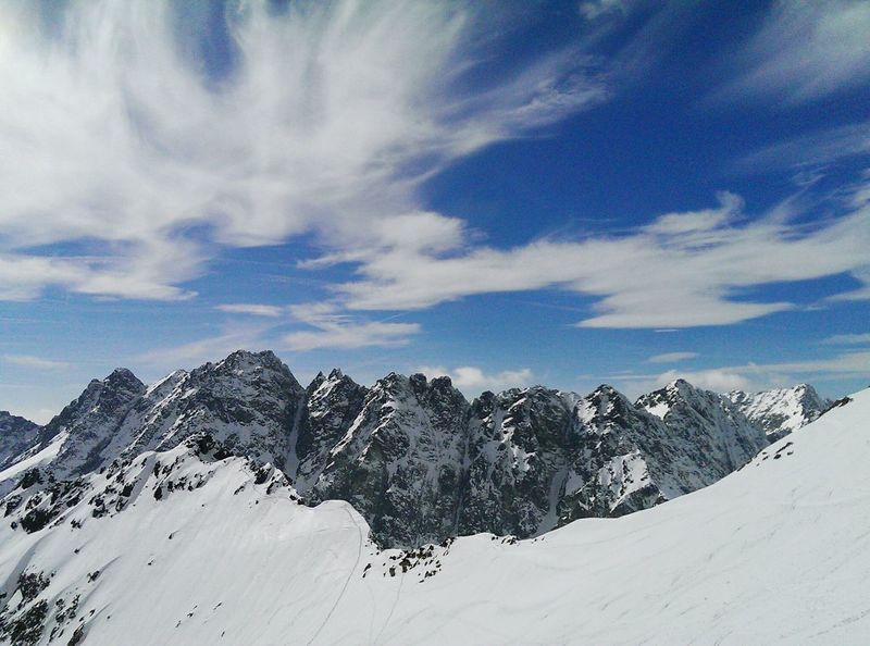 Enjoying Life Mountains And Sky Beautiful World Ski Touring Vysoke Tatry Mountains Skiing