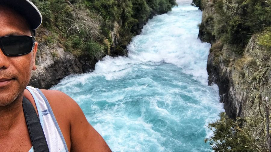 Only the front camera working on my phone. So it's selfies for this whole road trip lol Huka Falls, NZ Travel Destinations Roadtrip Indiginz Rock - Object Adventure Day Water