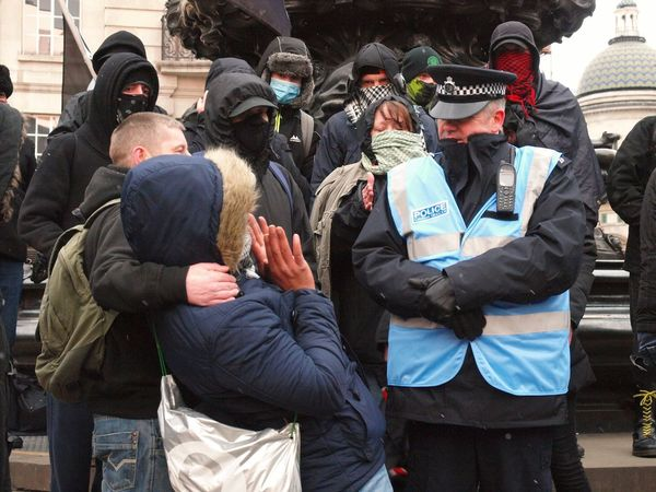 March Against Racism-UN Anti Racism Day. 17/03/2018 London Olympus Zuiko Anti Facism Anarchists London News UN Anti Racism Day March Against Racism Policing Metropolitan Police Outdoors People Togetherness Men Adult Lifestyles Day Politics And Government