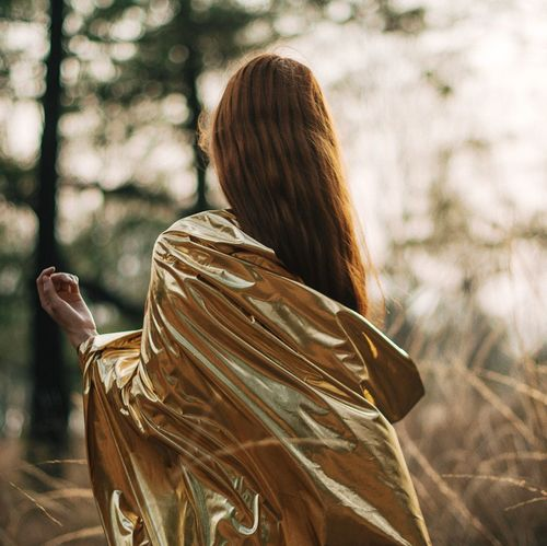 Dreams Rear View One Person Women Long Hair Real People Outdoors Tree Young Adult Young Women Lifestyles Day Nature One Young Woman Only Adult One Woman Only People Adults Only Golden Gold EyeEmNewHere