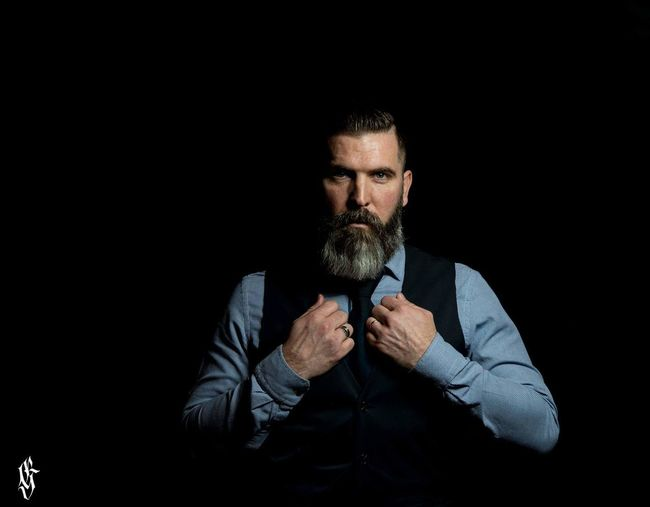 Beard One Man Only Black Background Studio Shot Businessman Photooftheday Guntphotoart Tattooconvention Bearded Manwithbeard Classic Style