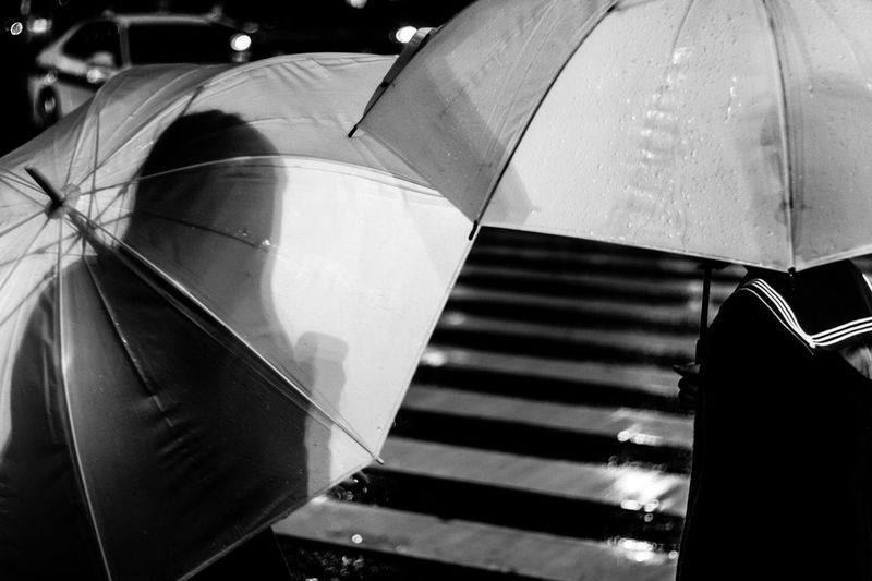 Creative Light And Shadow EyeEm Best Shots Japan Rain Rainy Days Snapshots Of Life Tokyo Urban Lifestyle Abstract Atmospheric Mood Black And White Crossing Day Fine Art Fragility Light And Shadow Night People Street Umbrellas Women Stories From The City HUAWEI Photo Award: After Dark