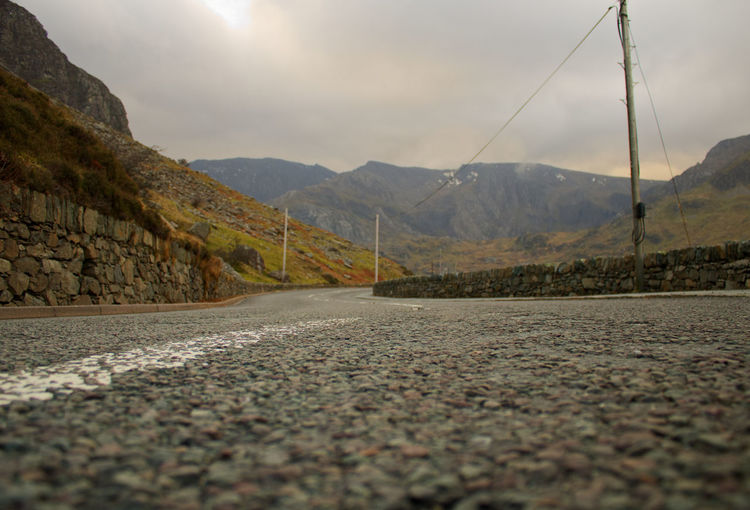 Welsh Countryside The Way Forward Wales Mountains Tree Mountain Rural Scene Mountain Road Road Winding Road Sky Landscape Mountain Range Atmospheric Mood Overcast Empty Road vanishing point Diminishing Perspective