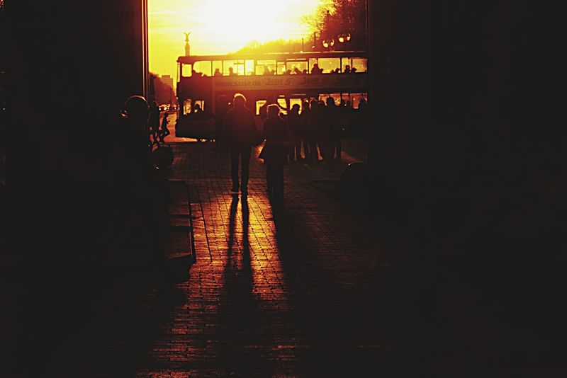 Open Edit EyeZoom Sunset Silhouettes Light And Shadow Light Fresh 1 Streetphotography Sony A6000 Silhouette Berlin Street Photography