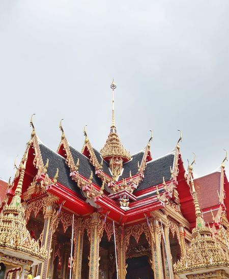 Watnangsoa Temple Temple - Building Thailand ThaiTemple City Red History Tradition Cultures Place Of Worship Ancient Sky Castle Pavilion Historic Cambodian Culture Cambodia