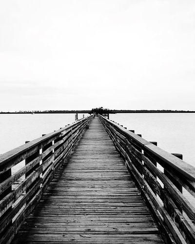 Be the change that you wish to see in the world Railing Copy Space Outdoors Clear Sky Water Wood - Material Pier Day The Way Forward No People Sky Nature Sea Horizon Over Water Scenics Footbridge Beauty In Nature
