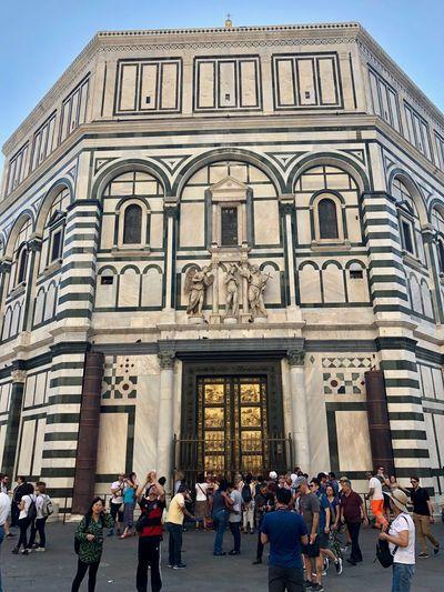 Walking Around Florence Duomo Di Firenze City Life Real People Porta Del Paradiso Paradise Door Travel Tourism Travel Destinations