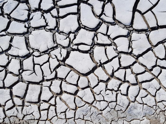 Backgrounds Arid Climate Full Frame Drought Cracked Textured  Close-up Dried Global Warming Barren Soil