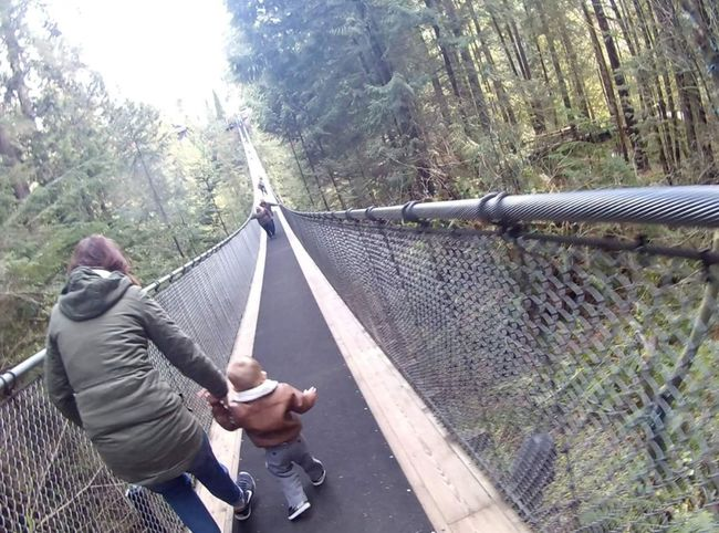 Day Outdoors Bridge - Man Made Structure Transportation Leisure Activity Real People Two People Tree Togetherness Footbridge Adult People Men Nature Adults Only Only Men Sky Connected By Travel