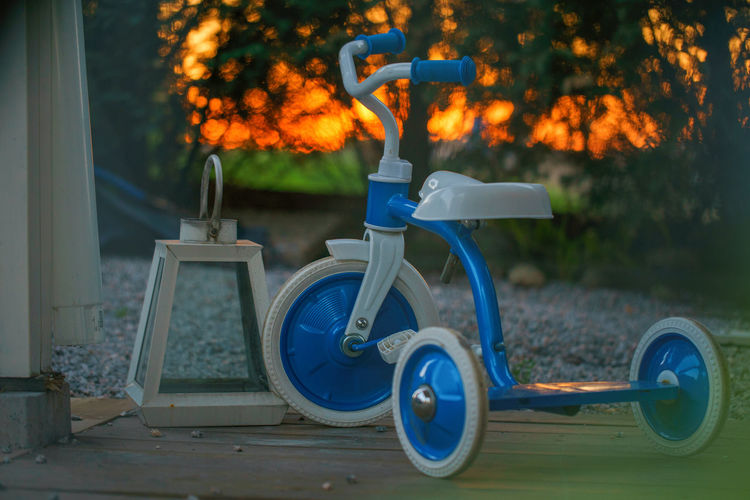Front yard tranquility. EyeEm Best Shots EyeEm Gallery Norway Sunset Tree Tire Bicycle Pedal Parking Land Vehicle Growing Leaves Tricycle The Still Life Photographer - 2018 EyeEm Awards