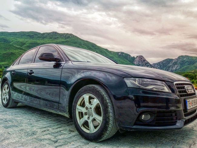 Audi ♡ Car Transportation Land Vehicle Sky Day No People Outdoors Montains    Audi A4