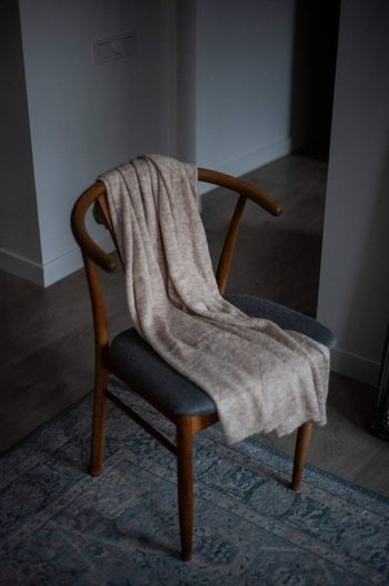 Empty chair at home