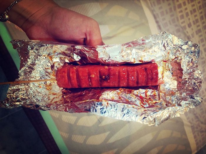 Want some Chinese hotdog?lol Spicy Sausage Chinese Food Asian Food Myfav
