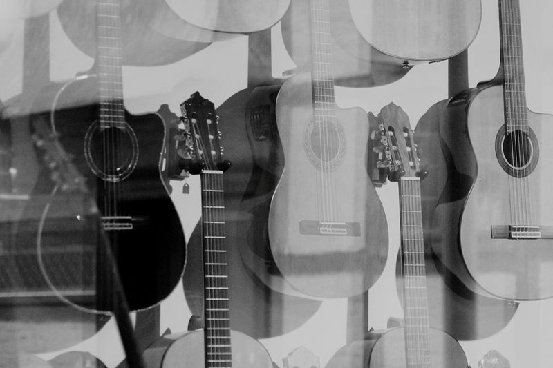 Guitar Guitars Monochrome Blackandwhite Black And White Black & White Acoustic Guitar Acousticguitar Guitar Time Acoustic Music Musical Instruments Sixstrings Reflection Monochrome _ Collection Black&white Black And White Photography Shades Of Grey Perfectly Imperfect Monochromatic Telling Stories Differently Black And White Collection