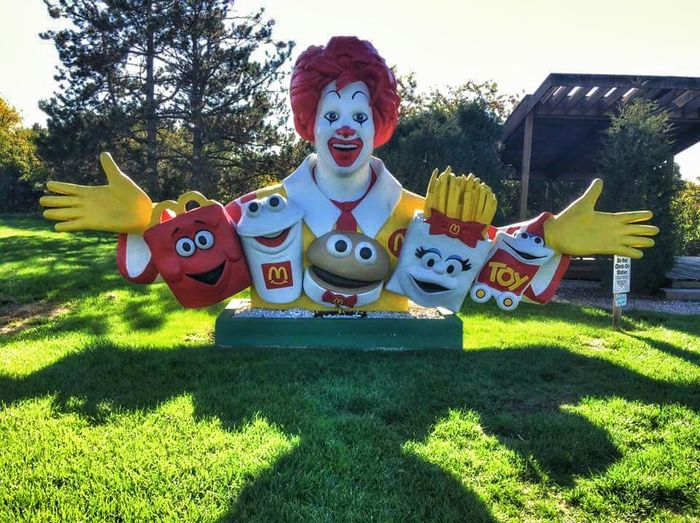 McDonalds :) Decoration Front View Colorful Smiling Happiness Fun Creativity Multi Colored Shadow Lawn Day Outdoors❤ Passing By Taking Photos From My Point Of Veiw In Columbus Ohio✌