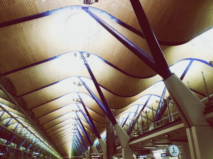 Airport hall Madrid Barajas, Spain Airport #hall #aiporthall Madrid #spain Architecture #iphone #iphonephoto #iphonephotography #snapseed #eyeem #iamcoolsk