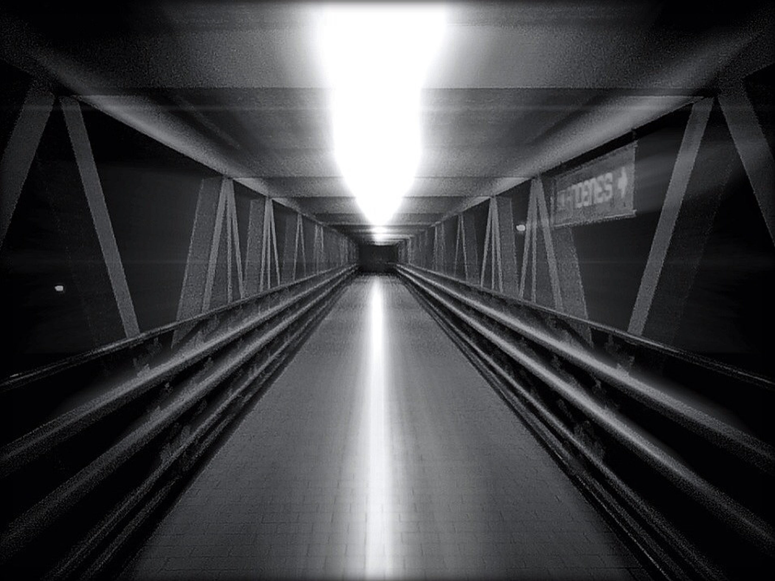 the way forward, diminishing perspective, architecture, indoors, built structure, vanishing point, illuminated, transportation, connection, ceiling, long, bridge - man made structure, modern, lighting equipment, empty, no people, tunnel, light - natural phenomenon, reflection, narrow
