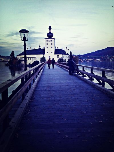 Spaziergang Brücke Park