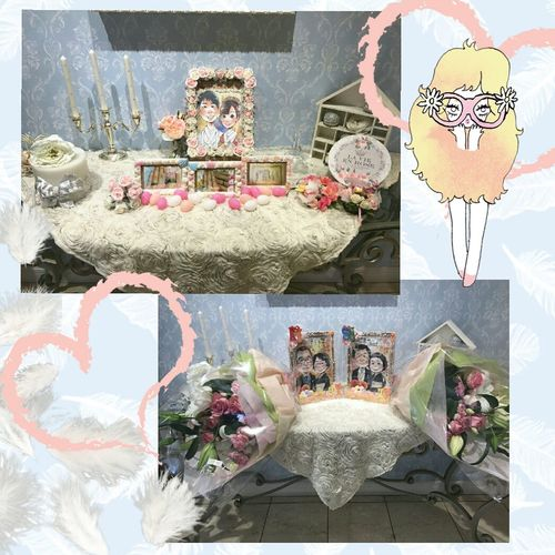 Table Celebration Flower Celebration Event Wedding Photography Mywedding Japan 日本 Welcome ウェルカムコーナー Welcomeboard 手作り ウェルカムボード