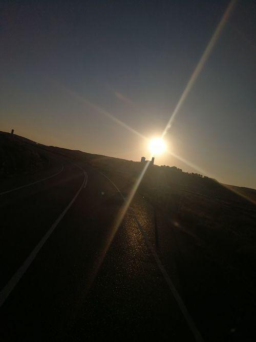 Sunshine Bujaraloz.... Road No People Landscape Outdoors Sunset Nature Sky