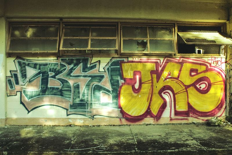 Graffiti Art And Craft Street Art Outdoors Yellow Multi Colored Architecture Life In Colors Youth