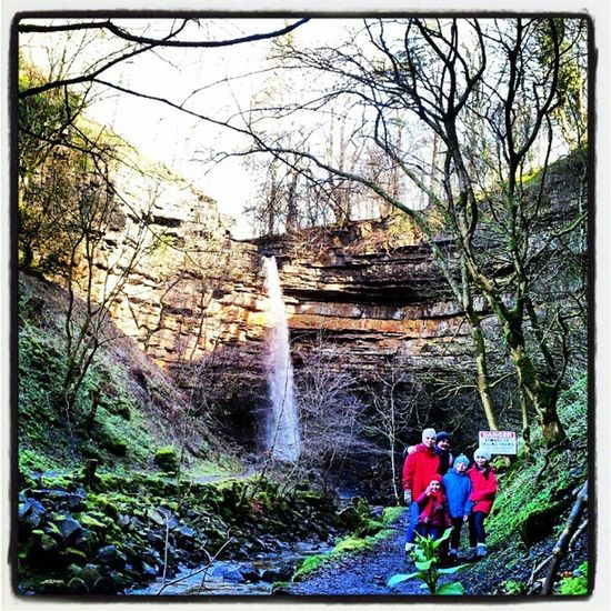 Waterfall in Hardraw Hardraw Yorkshire Yorkshirenationalpark Uk England