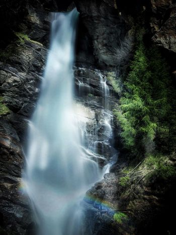 Waterfall Motion Blurred Motion Long Exposure Scenics Rock - Object Flowing Water Water Rapid Power In Nature Tourism Rock Formation Forest Nature Beauty In Nature No People River Outdoors Travel Destinations Day Waterfalls Lillaz Valdaosta Italy Alps