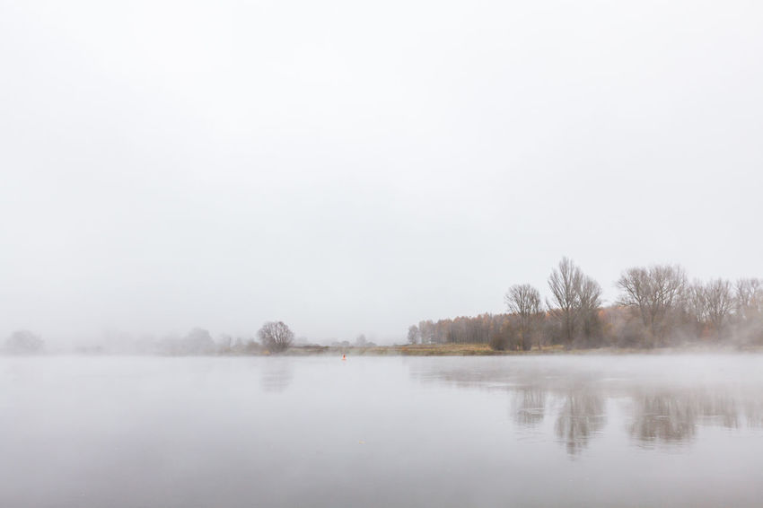 Nebel über der Oder Beauty In Nature Copy Space Day Fog Landscape Nature No People Outdoors River Sky Tranquil Scene Tranquility Water Winter