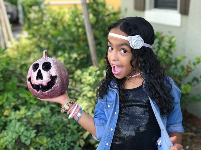 My beautiful daughter MiaCamila ... that Halloween face... Kidsmodel One Person Front Or Back Yard Childhood Children Only Girls Smiling People One Girl Only Day Lifestyles Happiness Outdoors Human Body Part Student Close-up  Nofilter#noedit Spookybeauty Boo Halloween EyeEm Trickortreat IPhone7Plus Kidsfashion