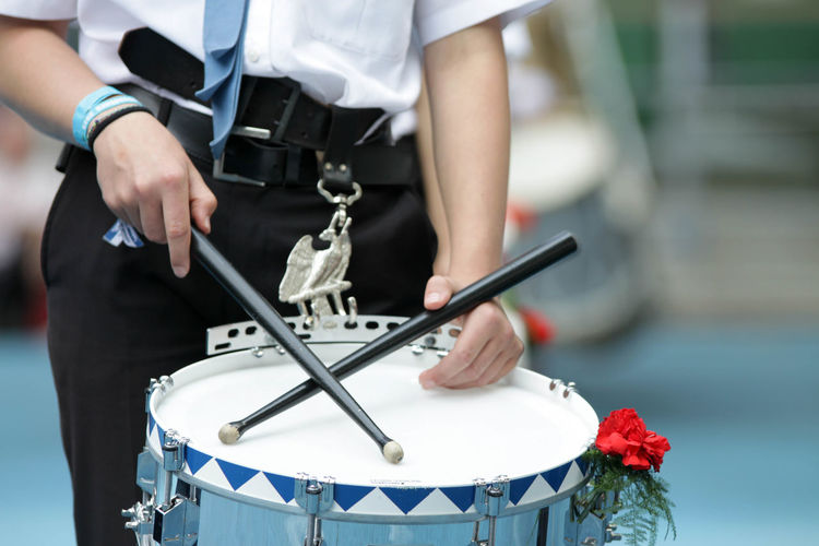Arts Culture And Entertainment Drum - Percussion Instrument Drummer Drumstick Entertainment Occupation Focus On Foreground Midsection Musical Equipment Musical Instrument Musician One Person Performance Playing Rutenfest  Rutenmontag