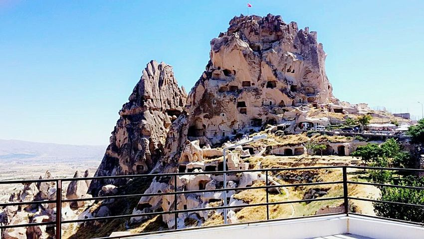 Geology Railing Mountain Travel Destinations Outdoors No People Sky Nature Day Landscape Beauty In Nature Beautiful Nature Kapadokya Beautiful View Nature Heaven Turkey