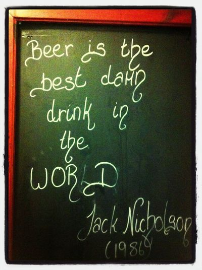 On Beer