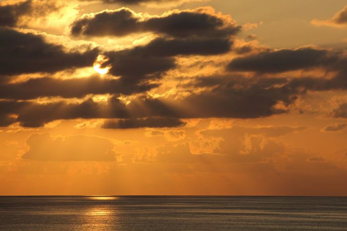 Sea Sunset Dramatic Sky Nature Sunlight Outdoors Sun Horizon Scenics No People Idyllic Awe Sea And Clouds Sicilian Sunset Aeolianislands Tyrrhenian Sea EyeEmNewHere