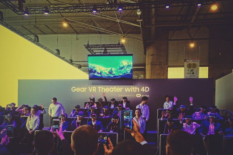 Future fun | Mwc MWC16 Vr Virtual Reality Future Reality Fun Crowd Galaxy Samsung IPhoneography Iphoneonly VSCO Vscocam EyeEm EyeEm Gallery