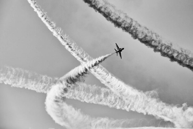 My Year My View Airplane Flying Airshow Smoke - Physical Structure Air Force Fighter Plane Air Vehicle Aerobatics Outdoors Vapor Trail Clear Sky Scenics