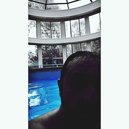Me Pool Blue Color Portrait
