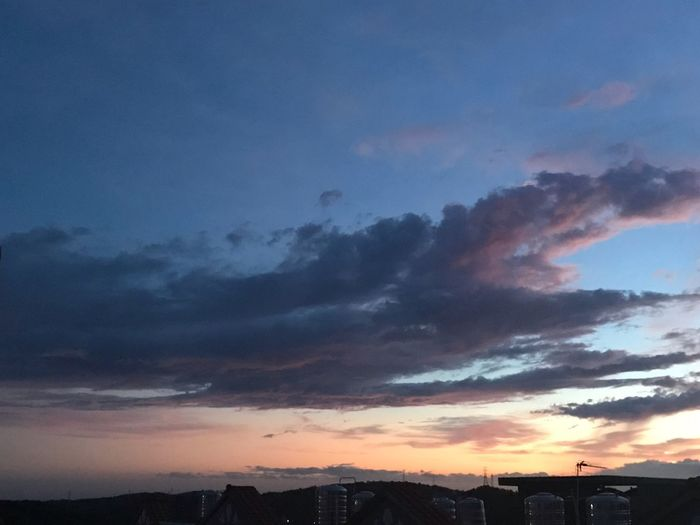 Sky Sunset City Beauty In Nature Environment Cloud - Sky Dramatic Sky