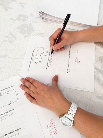 Business Stories Teaching Education Exam Formula Grading Handwriting  Human Body Part Human Hand Paper Pen Pencil Teacher Text Writing