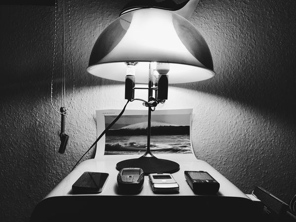 Black And White Friday The Old-Phone-Museum Vintage Smart Phone Cellphone Shrine Lighting Equipment Illuminated Indoors  Electric Lamp Electric Light No People Electricity  Lamp Shade  Home Interior Light And Shadow Mobile Phone Communication Blackandwhite EyeEm Best Shots - Black + White The Still Life Photographer - 2018 EyeEm Awards