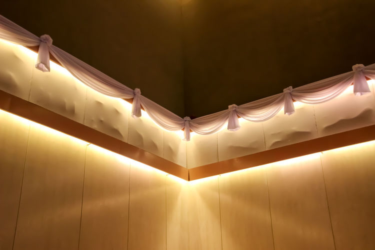 Architecture Close-up Curtain Electricity  Illuminated Indoors  Lighting Equipment Low Angle View Night No People