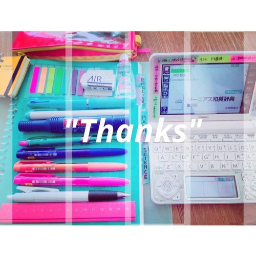Blue Pencase Stationary Thanks  Pen Studying Learning