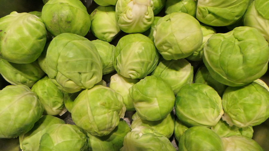 Full Frame Shot Of Brussels Sprouts