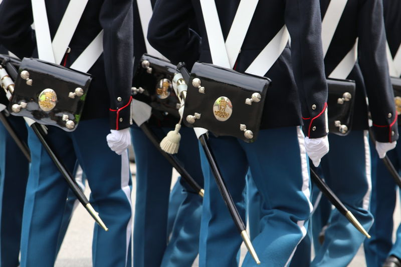 Celebration Ceremony Close Up Close-up Day Denmark Education Guard King Lifeguard  Low Section Men Midsection Military Parade Military Uniform Outdoors People Queen Real People Royal Guard Soldier Standing Uniform Uniforms Young Man An Eye For Travel