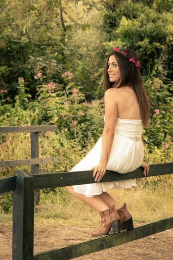 On LocationPortrait Of A Woman Natural Light Brunette Model Blue Eyed Girl Milton Keynes Portrait Photography Dan Davidson Photography Pretty Woman Boho Chic White Dress