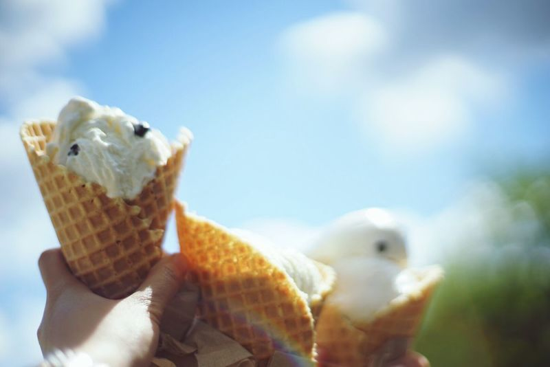 Ice Cream sun Relaxing summer Spring dairy store waffle cone