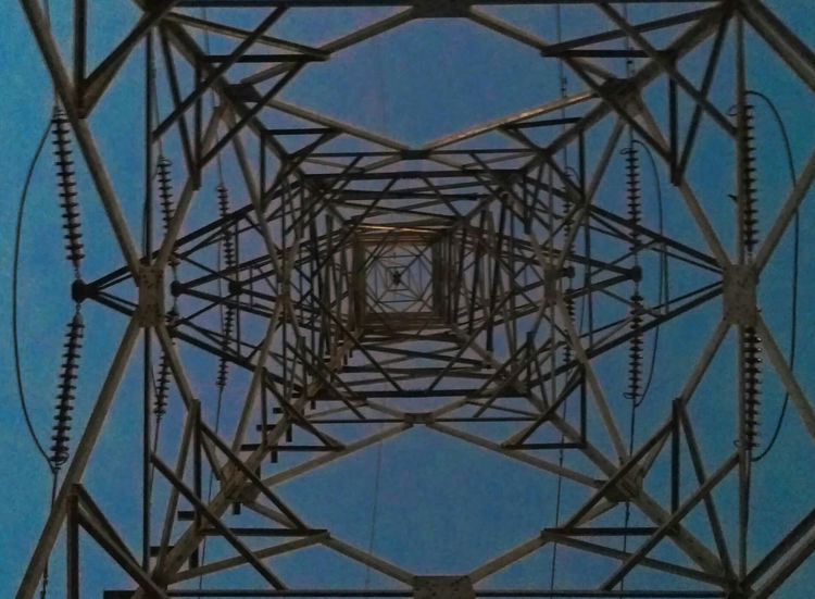 Connection Sky Electricity Pylon Electricity  Symmetry Pattern Power Supply Tower Directly Below Fuel And Power Generation Metal Girder Concentric Engineering Cable No People Low Angle View Grid Technology Digitally Generated