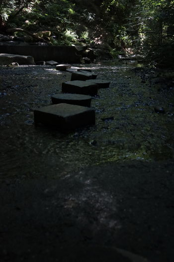 View of stones in the water