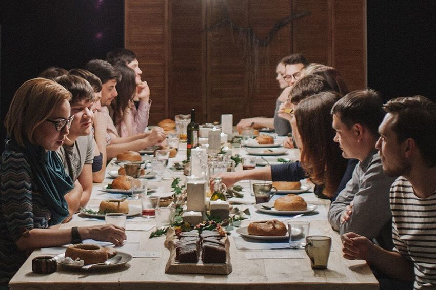 Enjoy The New Normal People Man Men Girl Woman Women Dinner Food Food And Drink Family Friends Friendship Kinfolk Cozy Lunch Celebration Thanksgiving