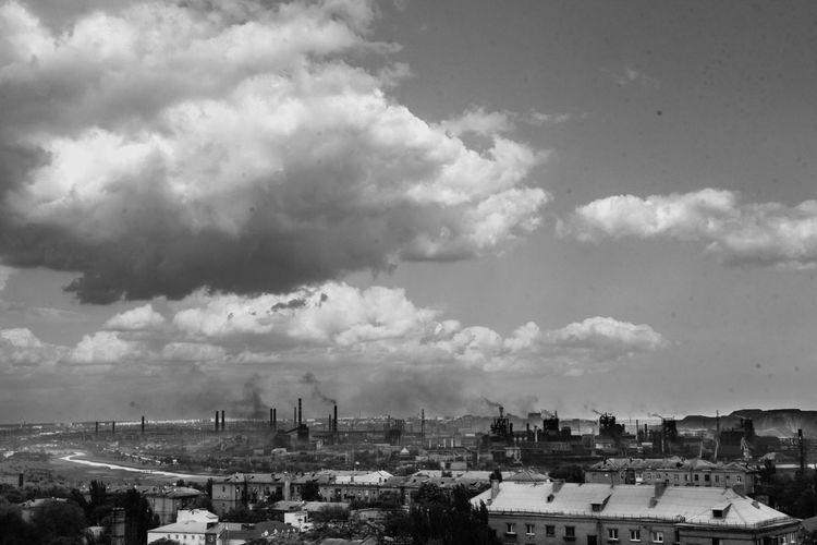 Город Мариуполь Мариуполь чб графика завод завораживает Природа природа и красота First Eyeem Photo